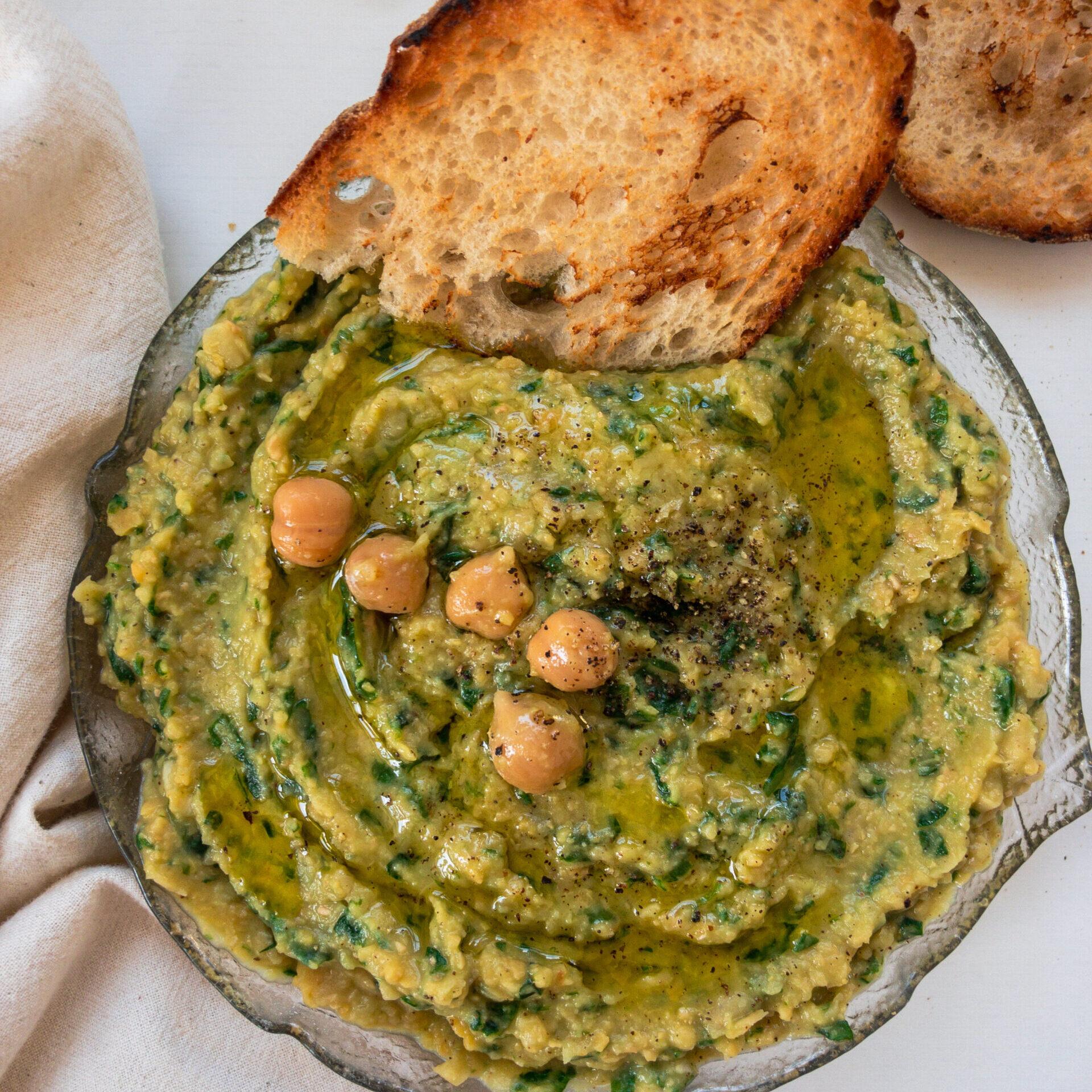 Bärlauch Hummus square