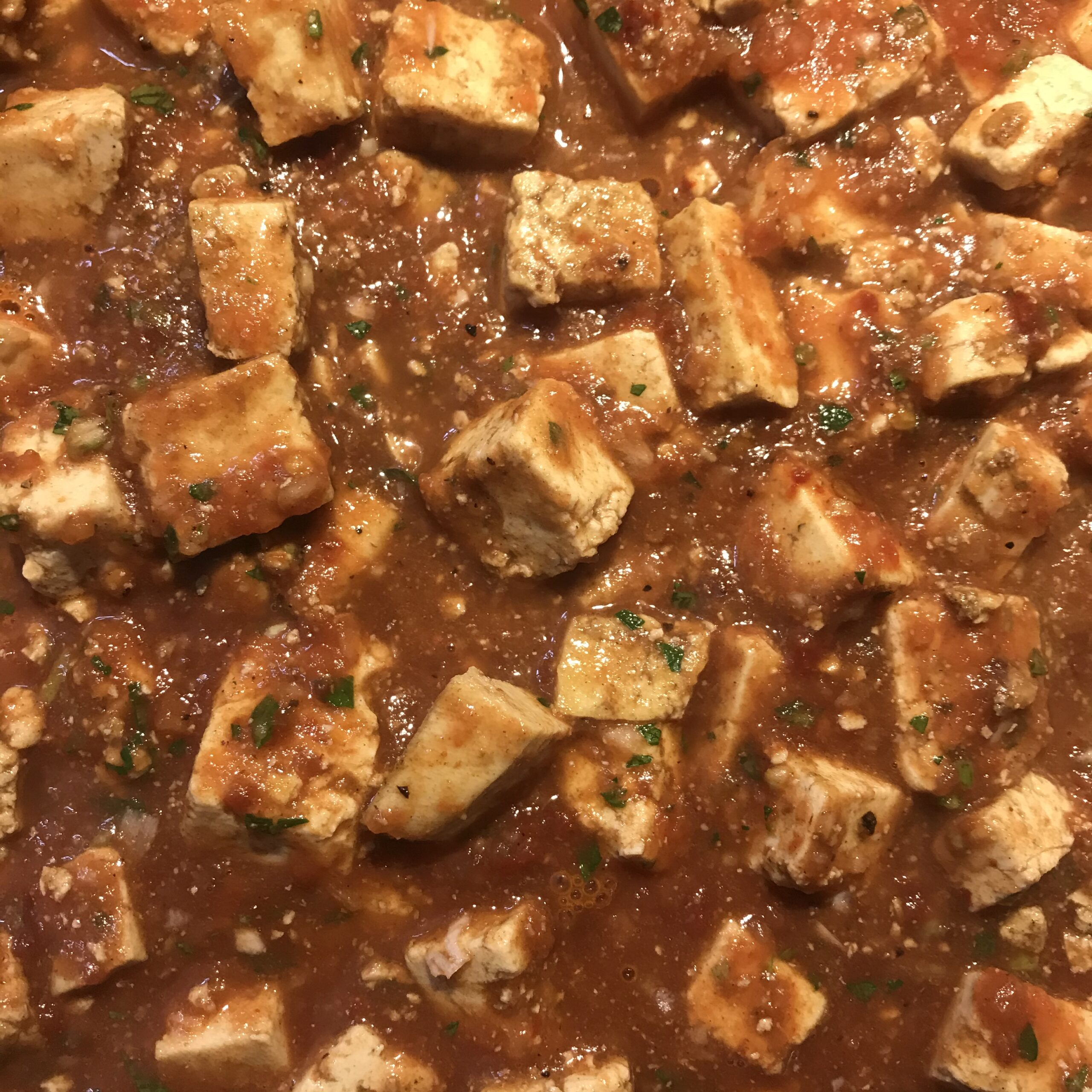 Tofu in Mole