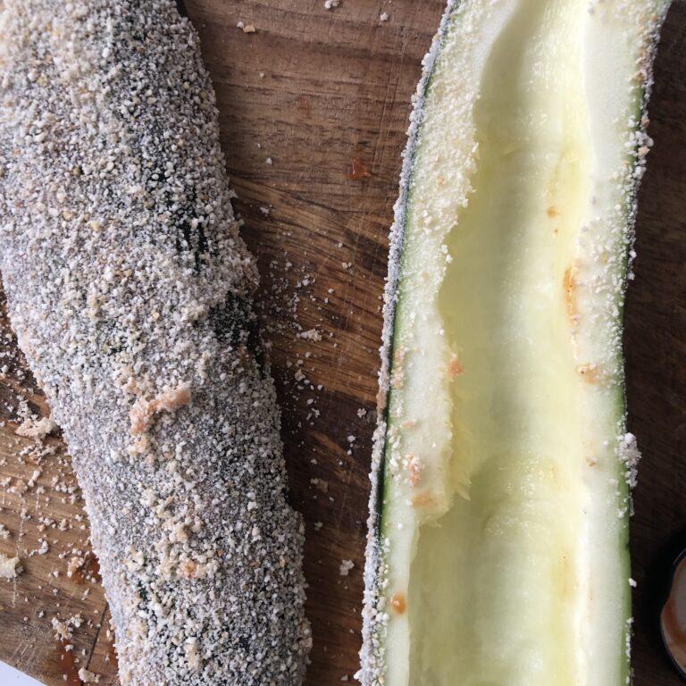 Zucchini mit Brösel