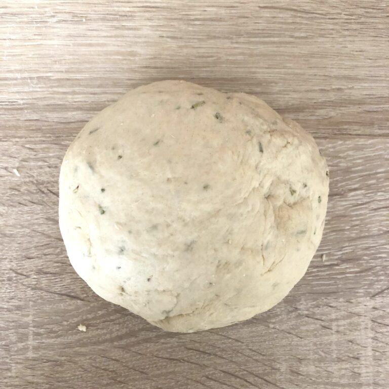 Teig geknetet